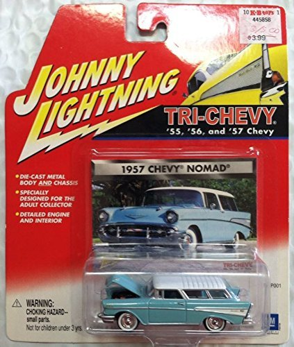 - Johnny Lightning Tri-Chevy 1955 Chevy Nomad Wagon GRAY