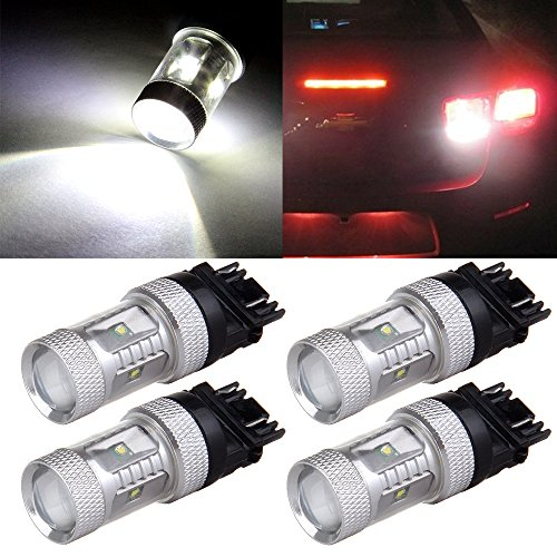 CCIYU 4 Pack 3157 White 6SMD Chip LED 6000K Projector (2006 Chevy Avalanche Led)