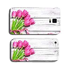 bouquet of spring pink tulips cell phone cover case iPhone5