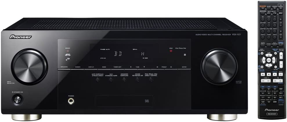 Pioneer VSX-821-K 5.1 Home Theater Receiver, Glossy Black (Discontinued by Manufacturer)