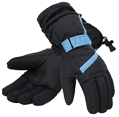 Simplicity Women 3M Thinsulate Lined Waterproof Snowboard /Ski Gloves,M,Bl/Blue