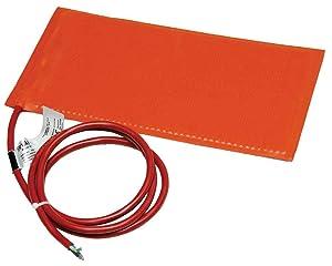 BriskHeat SRL06121 SRL Silicone Rubber Heating Blanket, Rectangular, 120V, W x L: 6 x 12-Inch