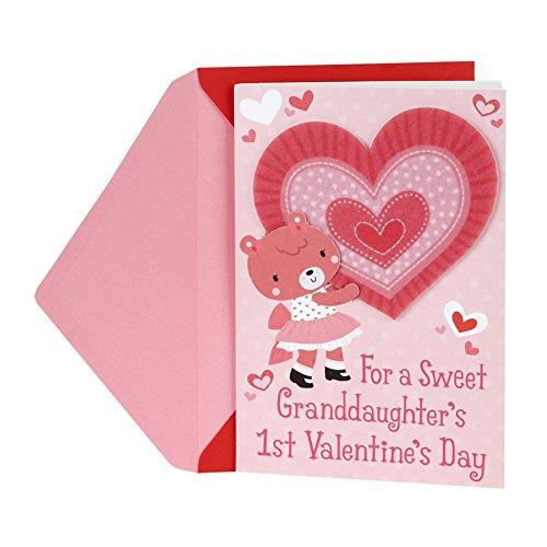Hallmark Valentine's Day Greeting Card for Granddaughter (First Valentine's Day)