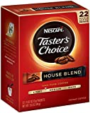 Nescafe Taster's Choice House Blend Instant Coffee, 22 Count Single Serve Sticks