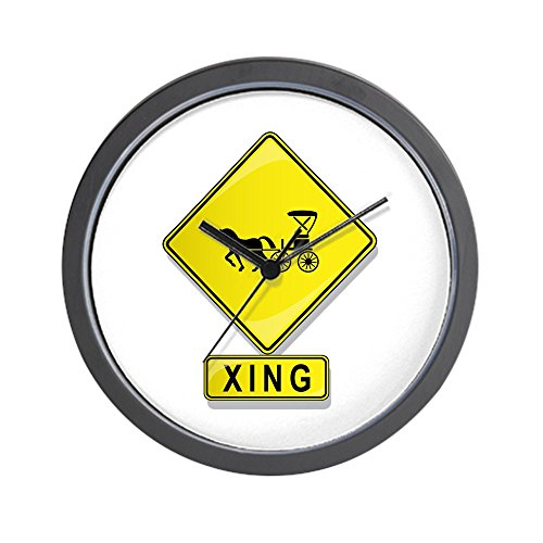 (CafePress - Horse and Buggy XING Wall Clock - Unique Decorative 10