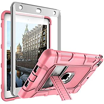 Full-Body Shockproof Protective Case Cover for iPad 9.7 2017//2018 5th//6th Generation Built-in Screen Protector and Kickstand TopEsct Heavy Duty Case for iPad 9.7 2017//2018 Black1