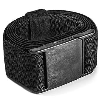 M23 Magnetic Carbon Buckle Stretch Belt by Yaak (Black/Black Herringbone, Performance Stretch II)