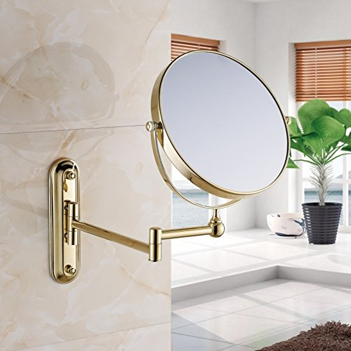 European-style luxury cosmetic mirror/bathroom cosmetic mirrors/Wall-mounted folding telescopic mirror-A by VBEHDH