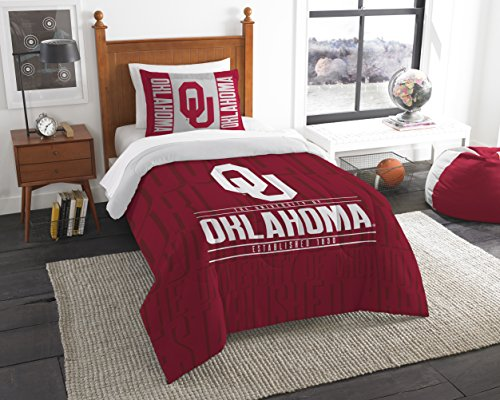 Officially Licensed NCAA Oklahoma Sooners Modern Take Twin Comforter and (Oklahoma Sooners Comforter)