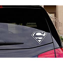 "Superman Decal Sticker for Car Window, Laptop and More. 5.5"" wide - Choice of colors"