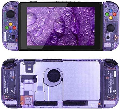 HTBG 8色でNintendスイッチNSコントローラージョイコンゲームコンソールスイッチのシェル用(更新版)交換ハウジングシェルケース (Color : Purple)