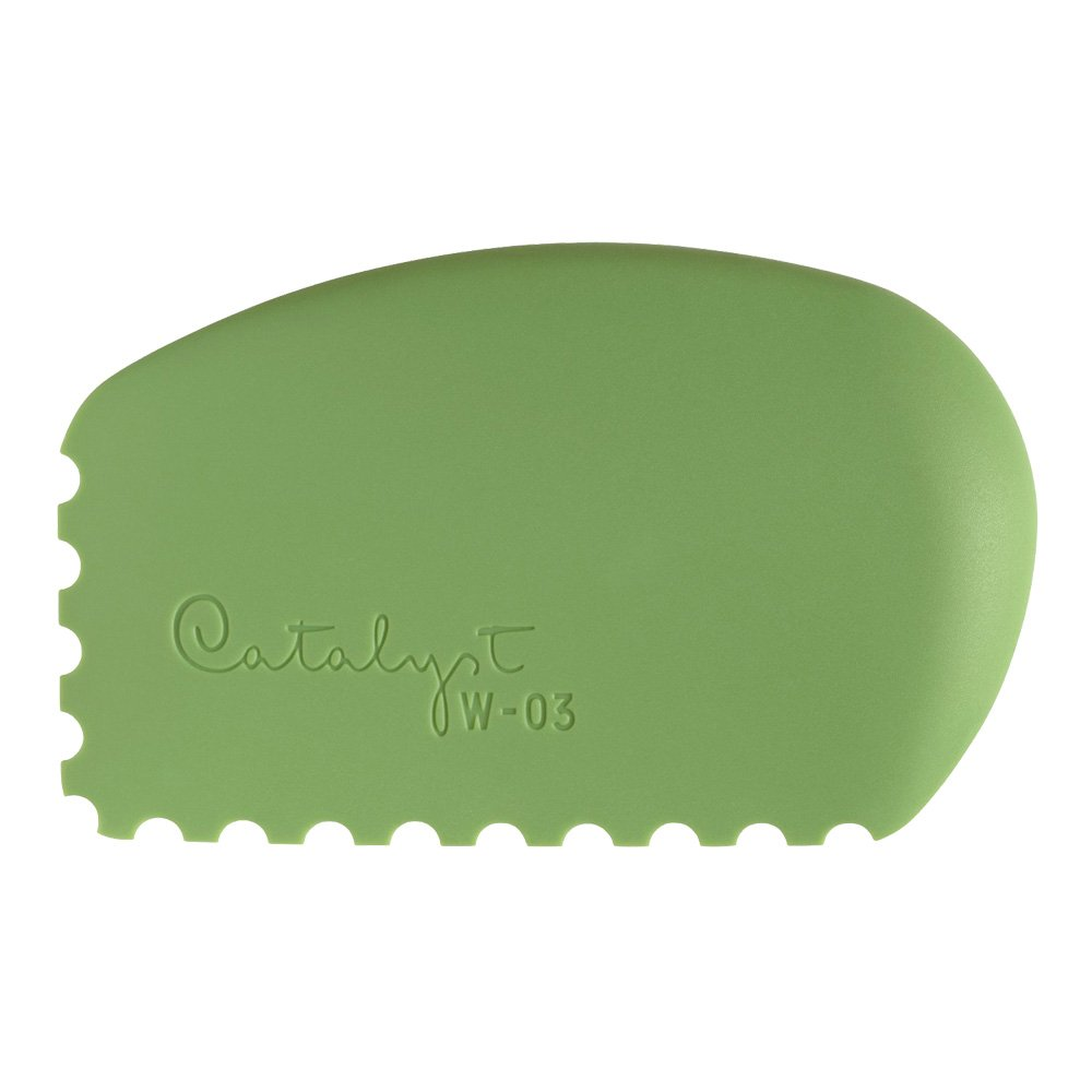 Princeton Artist Brush Catalyst Silicone Wedge Tool, Green W-03 by Princeton Artist Brush