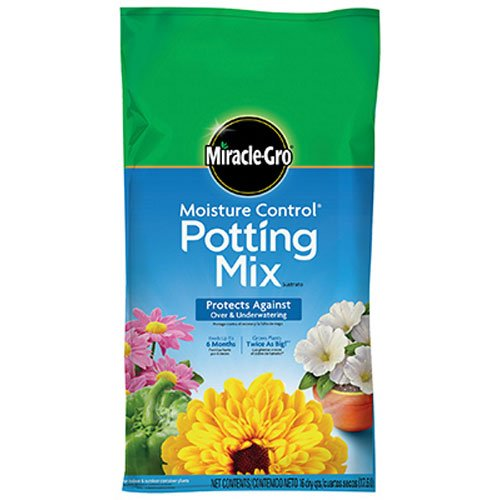 (Miracle-Gro Moisture Control Potting Mix, 16-Quart (0.53-Cubic Feet) )