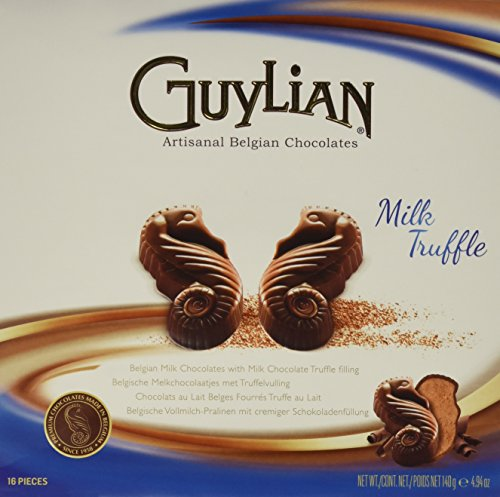 Guylian Belgium Chocolates Milk Chocolate Seahorse Truffle, Chocolate Filling, 4.94 Ounce