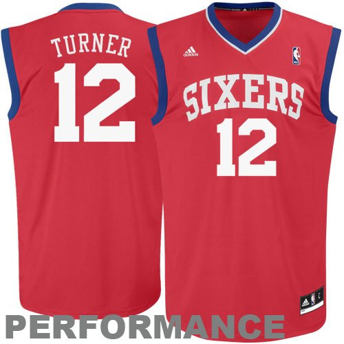 NBA adidas Evan Turner Philadelphia 76ers Youth Revolution 30 Performance Jersey - Red (Medium)