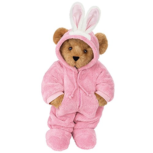 Vermont Teddy Bear - 15 inch, Hoodie-Footie Bunny Teddy Bear for (Handcrafted Plush Teddy Bear)