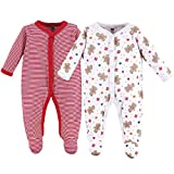 Hudson Baby Baby Cotton Union Suit, 2 Pack, Sugar/Spice, 6-9 Months