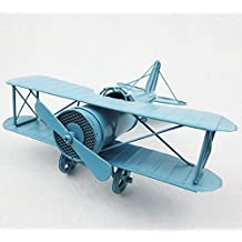 My Box Vintage / Retro Handicraft- Metal Plane Models - A Plane , the Best Choice for Christmas Gift/home Decor/ornament/ Desktop Decoration (light blue)