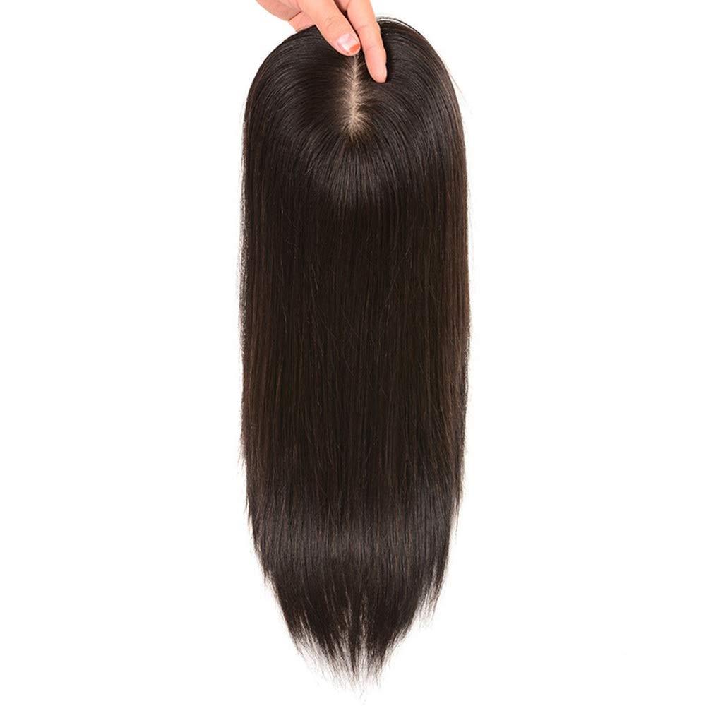 BOBIDYEE ヘアエクステンションの女性のストレートヘアクリップ目に見えない手の針本物の髪の毛のボリュームとカバーホワイトヘアの女性のかつらレースのかつらロールプレイングかつら (色 : Natural black, サイズ : [13x14] 30cm) B07SF5MG9W Natural black [13x14] 30cm