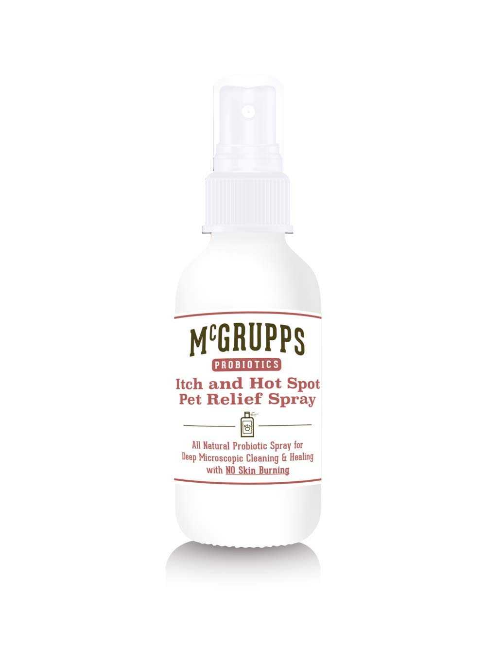Mcgrupps Vet Approved Itch & Hotspot Probiotic Spray for Dogs | All Natural Odorless Tasteless Skin Irritation Relief | Allergy and Coat Treatment | Made and Bottled in The USA by Mcgrupps