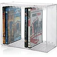 Stackable Clear Plastic DVD Holder - holds 14 standard DVD cases