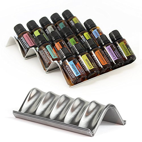 Simply Shelf Essential Oils Storage - 3pc Starter Set - Holds 15 Oil Bottles (5mL-15mL) Expandable Essential Oil Holders for Organizing & Displaying Oils (Essential Display Oil)