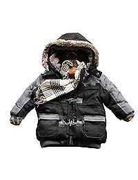 ekoobee Infant Baby Boys Thick Winter Warn Hooded Coats Jackets