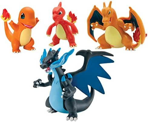 Pokémon Trainer's Choice 4 Figure Gift Pack, Charmander, Charmeleon, Charizard and Mega Charizard X