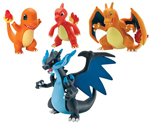 Pokémon Trainer's Choice 4 Figure Gift Pack, Charmander, Charmeleon, Charizard and Mega Charizard X Photo - Pokemon Gaming