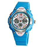 Wise® Boys Watch, Sports Watches, Girls Watches, Waterproof 100m Watches, Kids Watches 2001ad Cyan