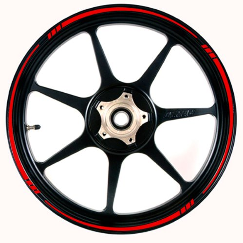 Red Motorcycle Rims - 6