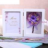 European live roses picture frame Eternal flower gift box Birthday gift-G