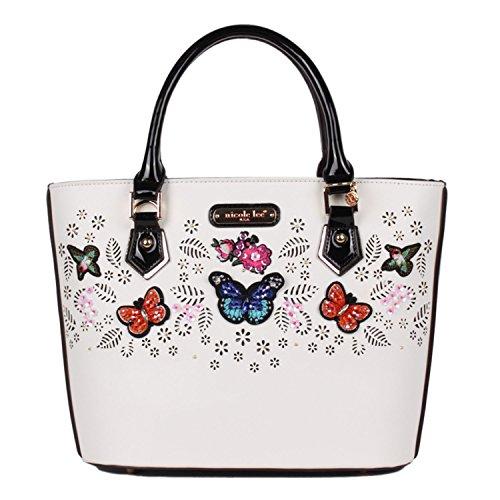 laser-cut-butterfly-embellished-colorful-nicole-lee-shopper-bag-white