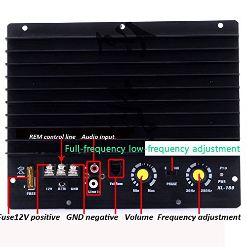 Eaglerich DC12V Boost Power Supply 200W Power Amplifier Board Car Amplifier for All Cars Strong Bass Function