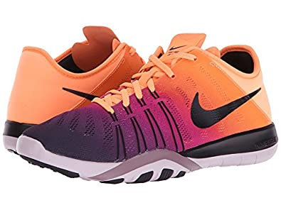 new concept e2815 3b22c Nike Free TR 6 Spectrum Bright MangoBlackBleached LilacPurple Womens  Cross Training Shoes Amazon.in Shoes  Handbags