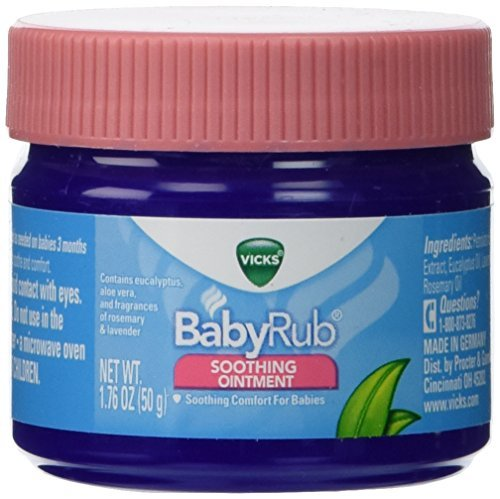 - Vicks Baby Rub Soothing Ointment 1.76 oz. (Pack of 3) by Vicks