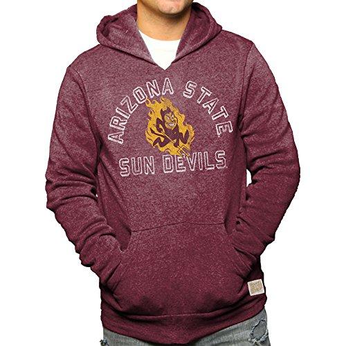 - Elite Fan Shop Arizona State Sun Devils Retro Hooded Sweatshirt Maroon - M
