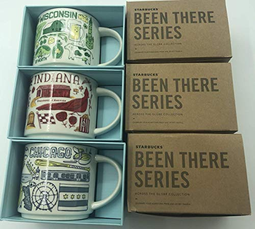 WISCONSIN + INDIANA + CHICAGO Been There Series Mugs Set Of 3