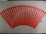 A 24 Pack of 18'' Long Heavy Duty Steel Tent Stakes or Tent Anchors