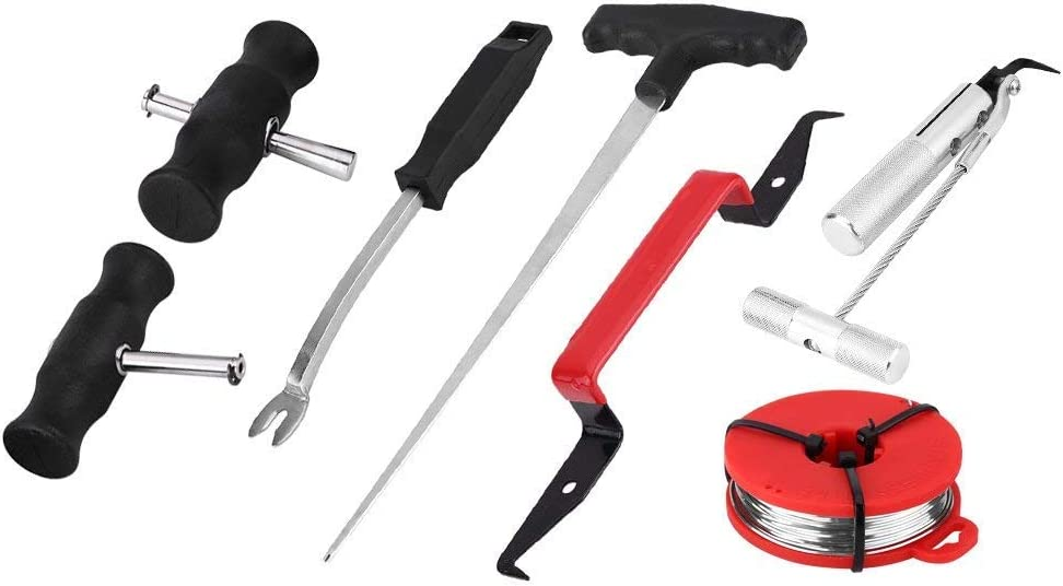 WINTOOLS 5PC Metal Auto Trim Door Panel Window Molding Upholstery Clip Removal Tool Kit