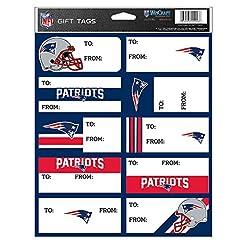 NFL New England Patriots Gift Tag Sheet