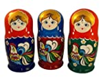The Rooster Nesting Dolls Wooden Russian Matryoshka Doll Hand painted Gift 5 pc Set 6 Tall