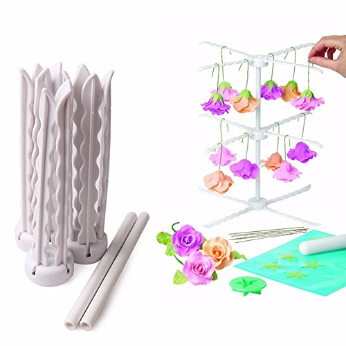 Dip Kennel - SuperStores Flower Drying Rack Stand Cake Decorating Sugarcraft Fondant Detachable Gum Paste Flower Rack Practical Baking Tools