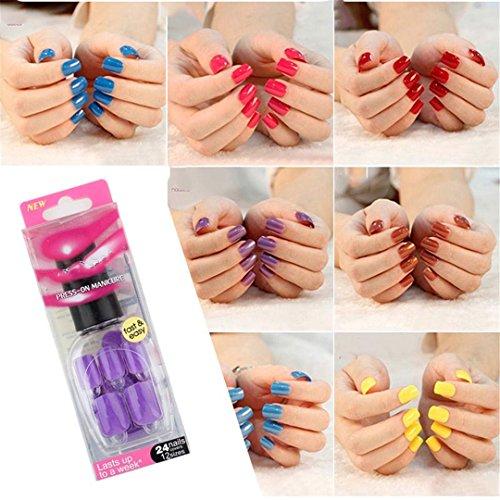 False Nails Tips Press On Manicure Gel Polish False Tips Nail Art Design Short Length Artificial Nails Extension Design 009