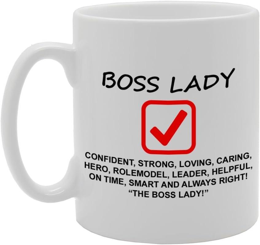 mg813/Boss Lady//travail//Boss The Boss nouveaut/é cadeau imprim/é Th/é Caf/é Tasse en c/éramique