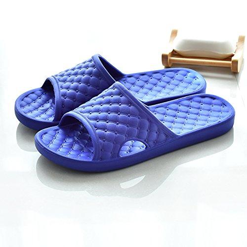 estive bagno adatto e casa donne ultra semplice pantofole coperta uomini bagno Estate Pantofole antiscivolo ciabatte per a CWJDTXD e piedi 43 blu sandali leggero spessa fondo da coppia 43 tHS5q8zw