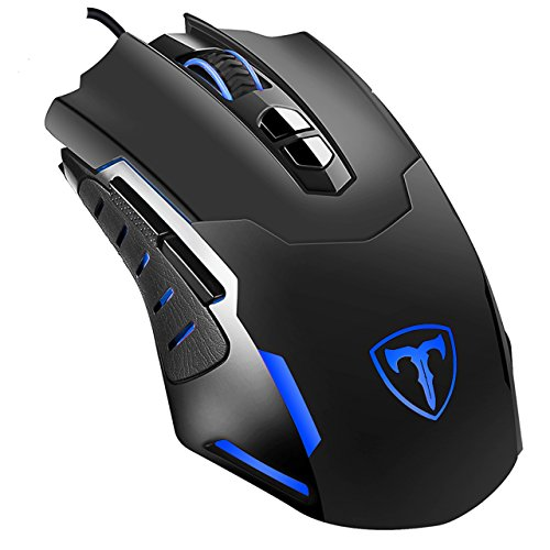 VicTsing 7-Button Backlit Programmable Gaming Mouse Wired, 7200DPI(High Precision, 5 Adjustable DPI Levels), LED Color Adjustable, Comfortable Grips, Ideal for Gaming