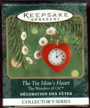 Hallmark 2000 Miniature Ornament - Wizard of Oz - Tin Man's Heart by Hallmark (Of Wizard Man Oz Tin Heart)