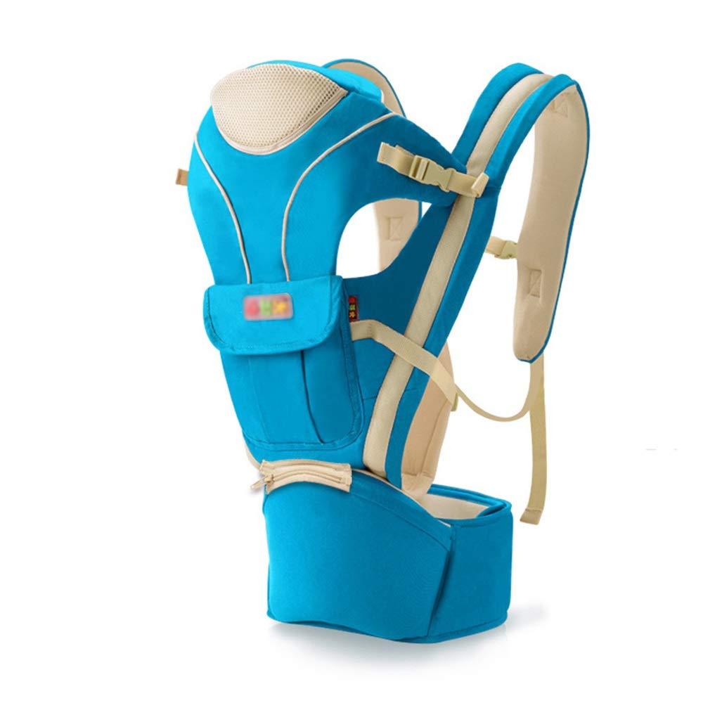 XBYEBD Portabebés Azul, multifunción, para Cuatro Estaciones, Universal, ergonómico, Adecuado para bebés de 0 a 48 Meses Blue-A