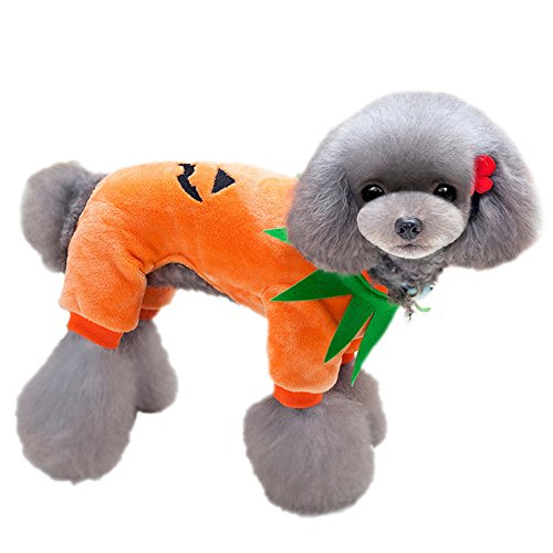 Dog Halloween Costumes Topsung Christmas Pumpkin Clothes for Pet Cat Puppy Size (Halloween Costumes 2017 College)